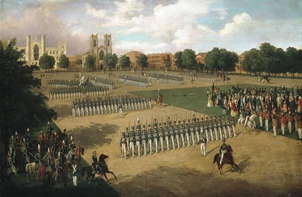 Seventh Regiment On Review Washington Square New York
